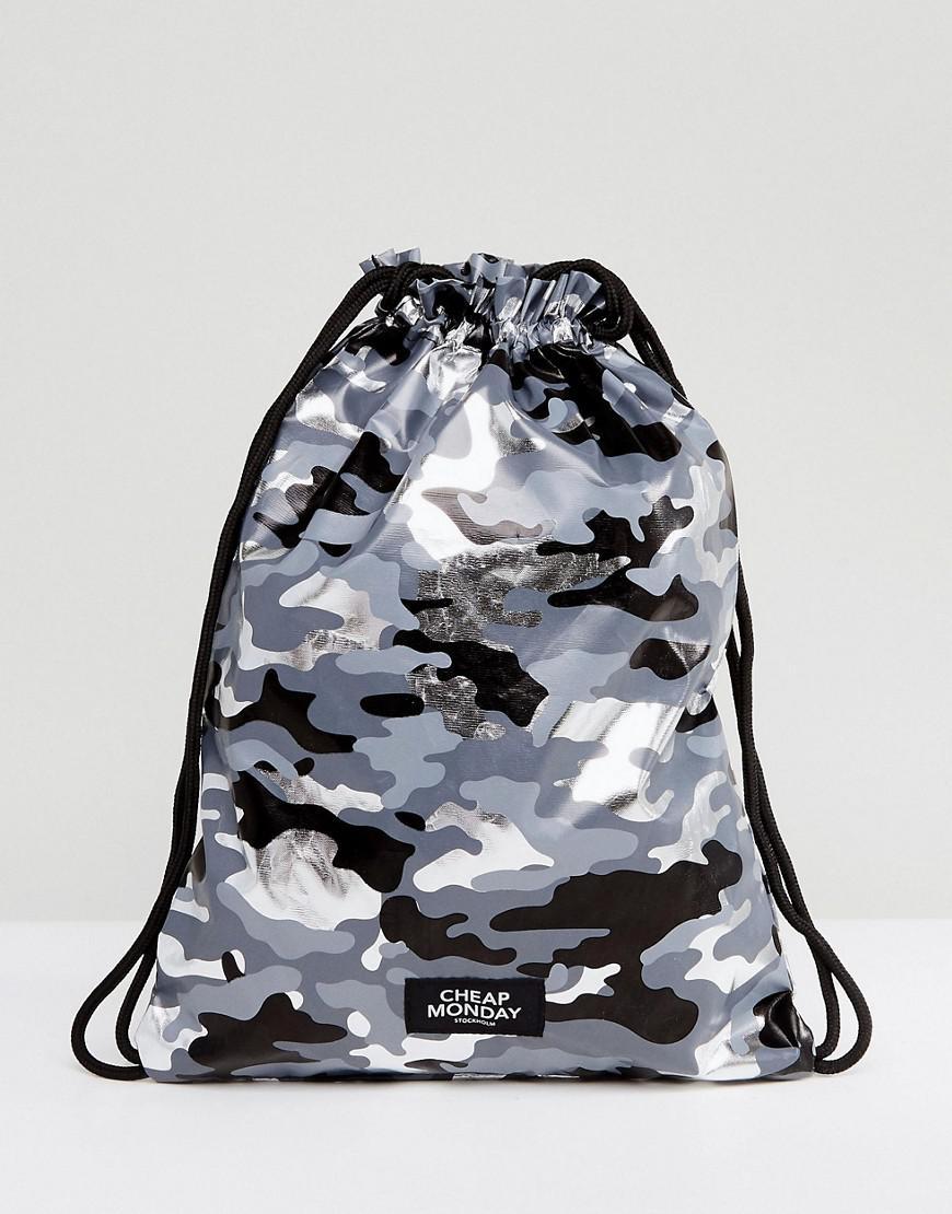 Camo Print Drawstring Bag - Black Cheap Monday Footlocker Finishline dLC7m1n6zM