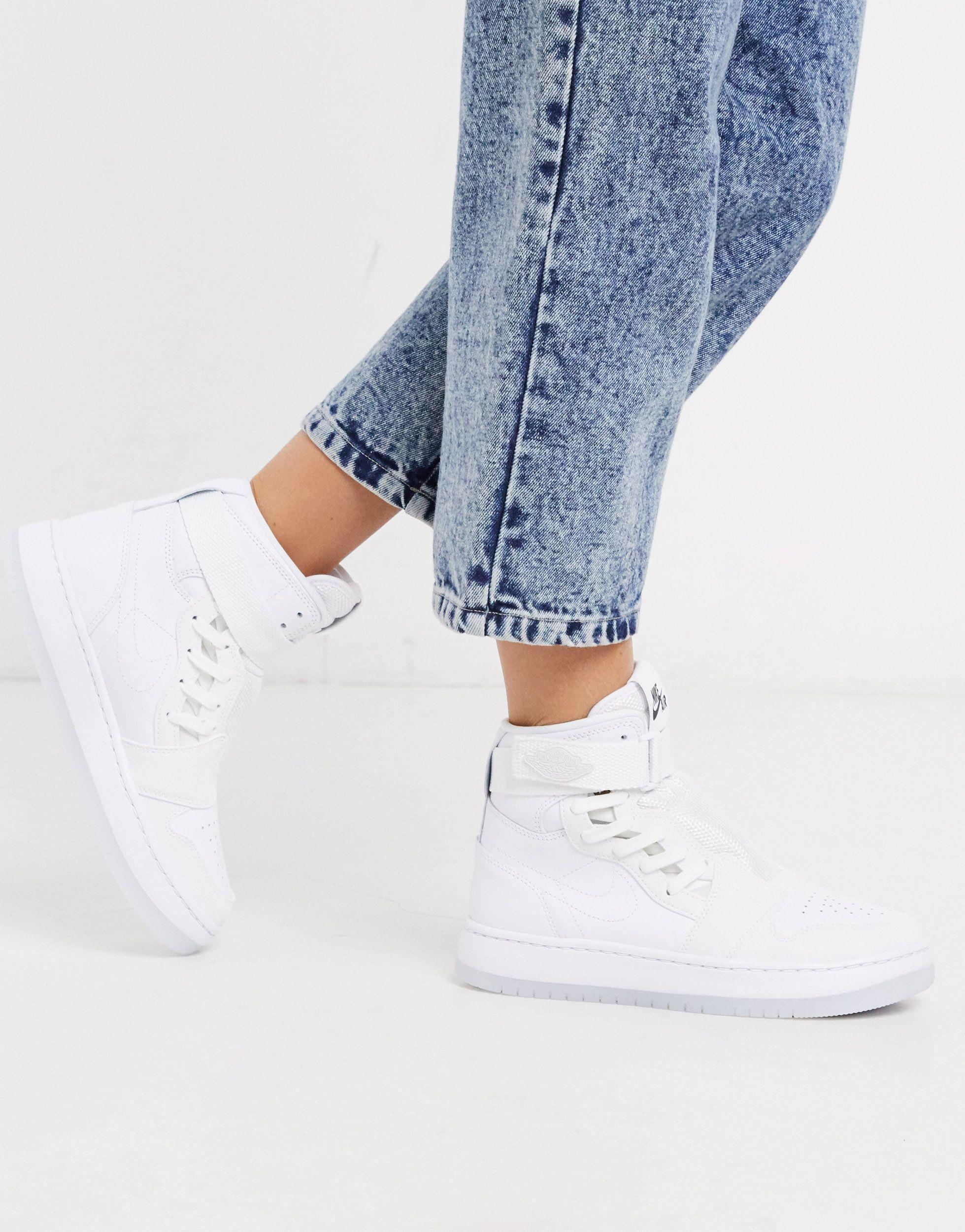 Nike Leather Air Jordan 1 Nova Xx Shoe in White & Black (White) - Lyst