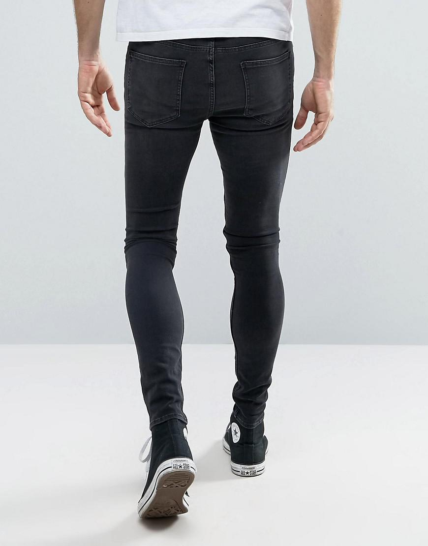 New Look Denim Extreme Super Skinny Jeans In Black for Men