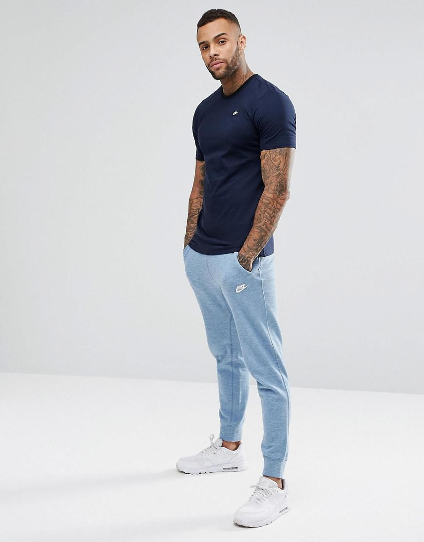ff3983bf Nike Shoe Box Logo T-shirt In Navy 684137-451 in Blue for Men - Lyst