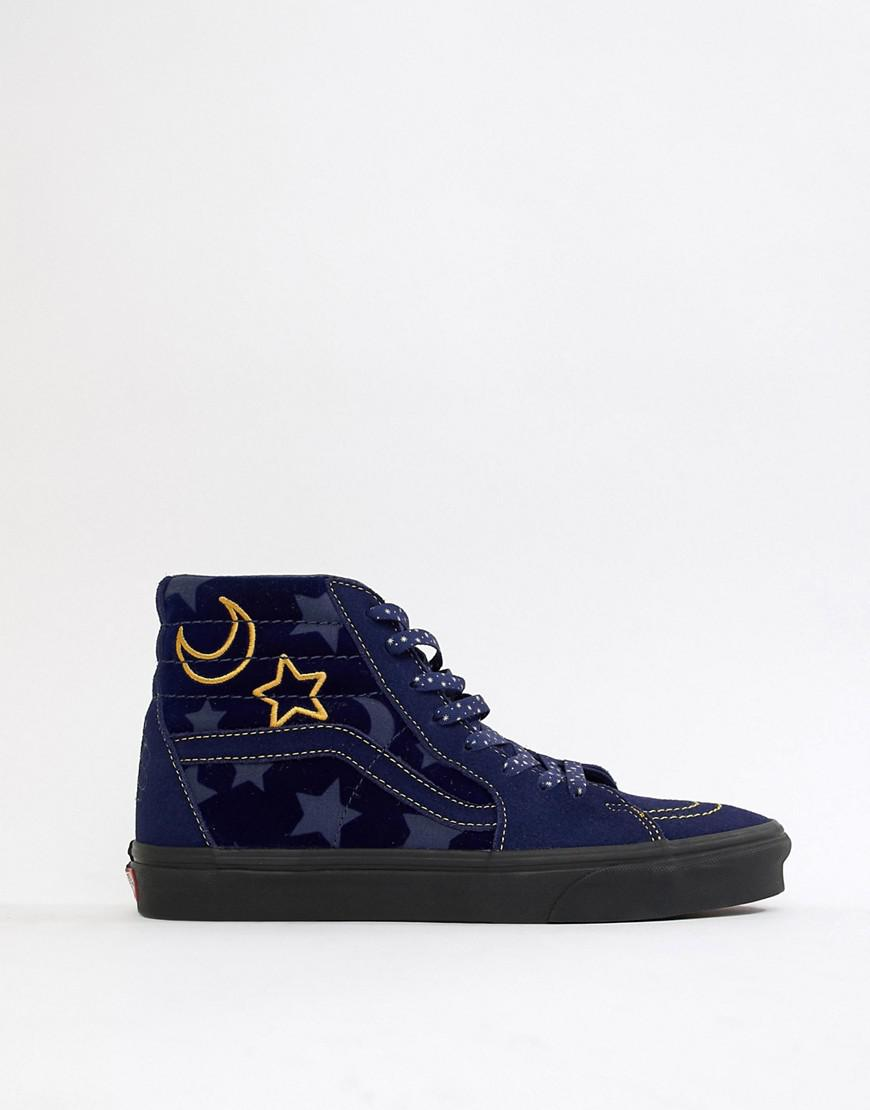 e7550397fae0cf Vans X Mickey Mouse Sk8-hi Sneakers In Navy Vn0a38geupp1 in Blue for Men -  Lyst