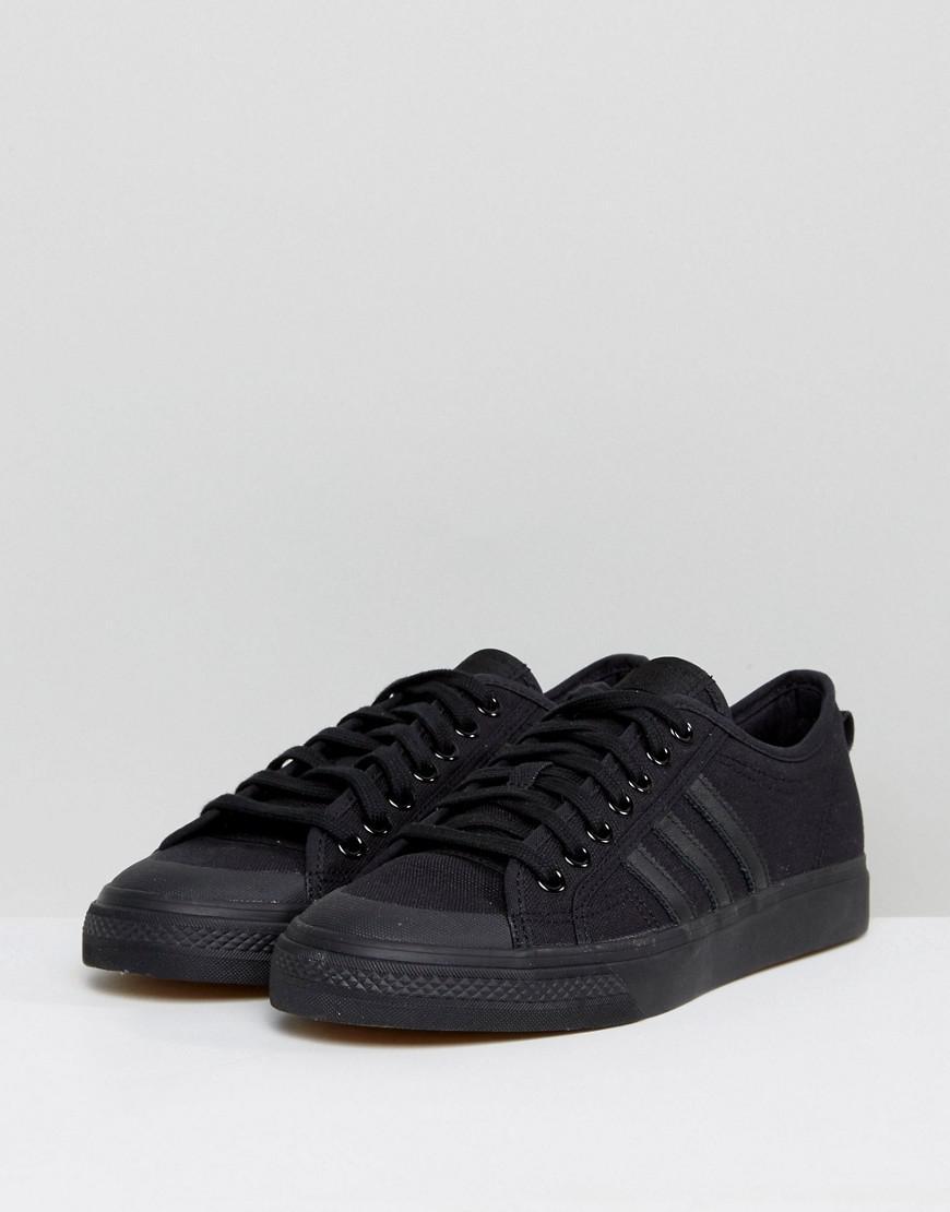 adidas Originals Leather Adidas Originals Nizza Lo Trainers In Black Bz0495 for Men
