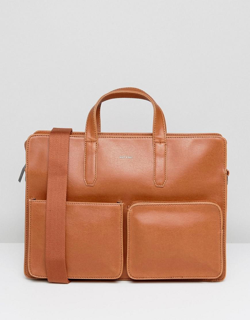 Brown Matt and Nat Soren Briefcase
