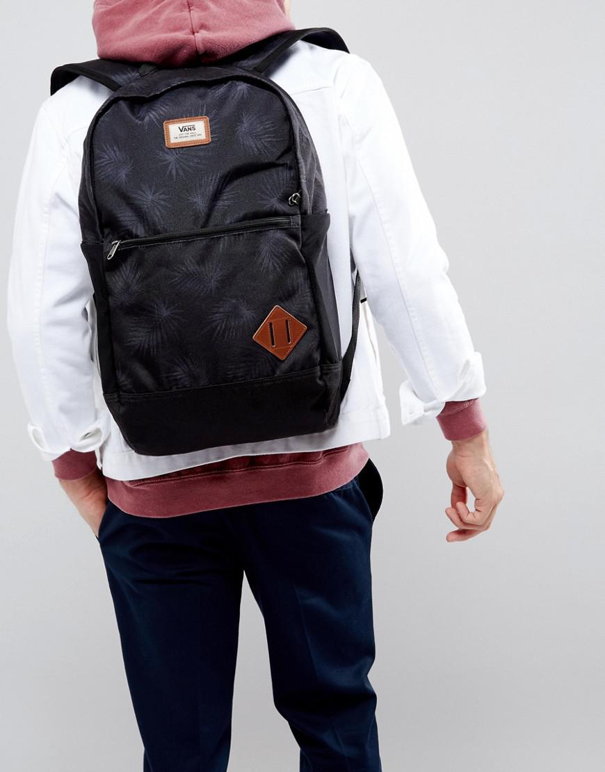 049887a4e71 Vans Van Doren Iii Backpack In Palm Print in Black for Men - Lyst