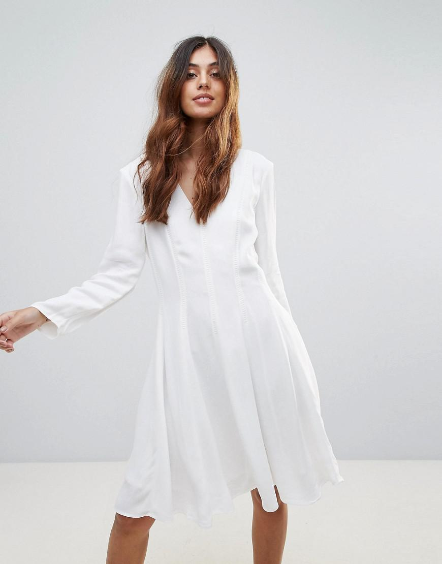 ce23a0bb70 Lyst - French Connection Modern Kantha Skater Dress in White