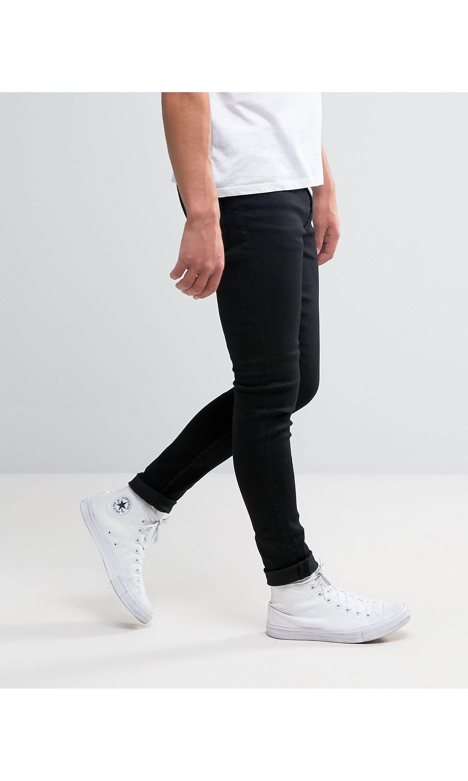 New Look Denim Super Skinny Jeans in Black for Men
