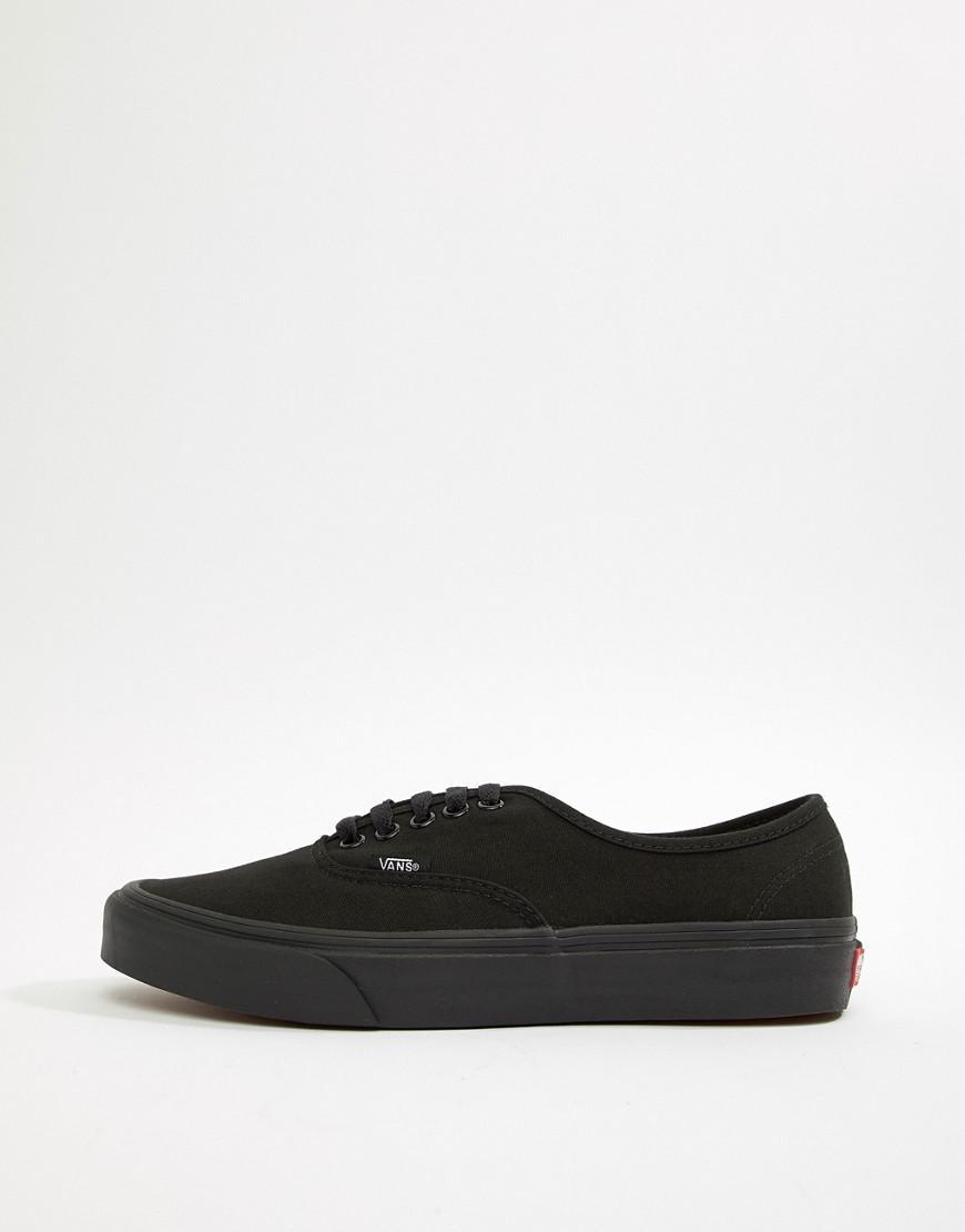 5ec982ff175 Vans Authentic Plimsolls In Black Vee3bka in Black for Men - Lyst