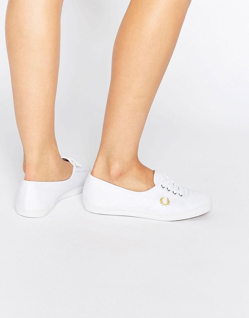 Fred Perry Canvas Aubrey White Sneakers