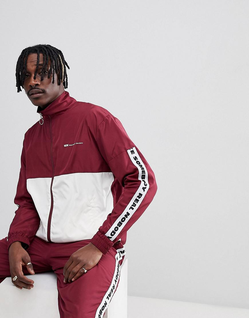 11deccc2 WOOD WOOD Homer Taped Track Jacket in Red for Men - Save 36% - Lyst