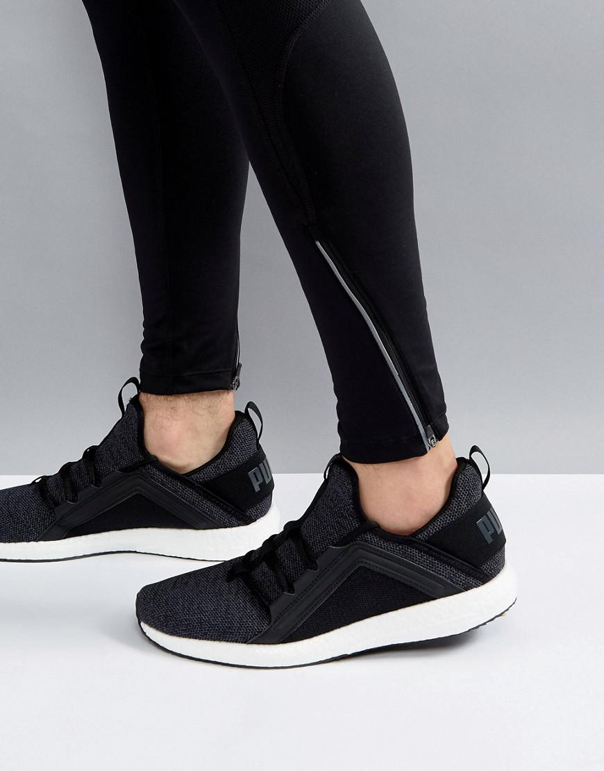 Lyst Puma Running Mega Nrgy Knit Trainers In Black