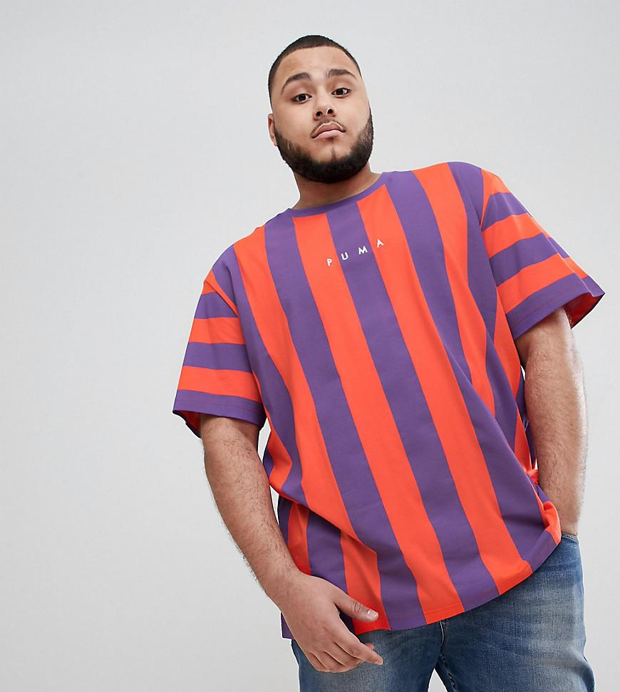 e20ae8eb7193 PUMA Plus Vertical Stripe T-shirt In Red Exclusive To Asos in Red ...