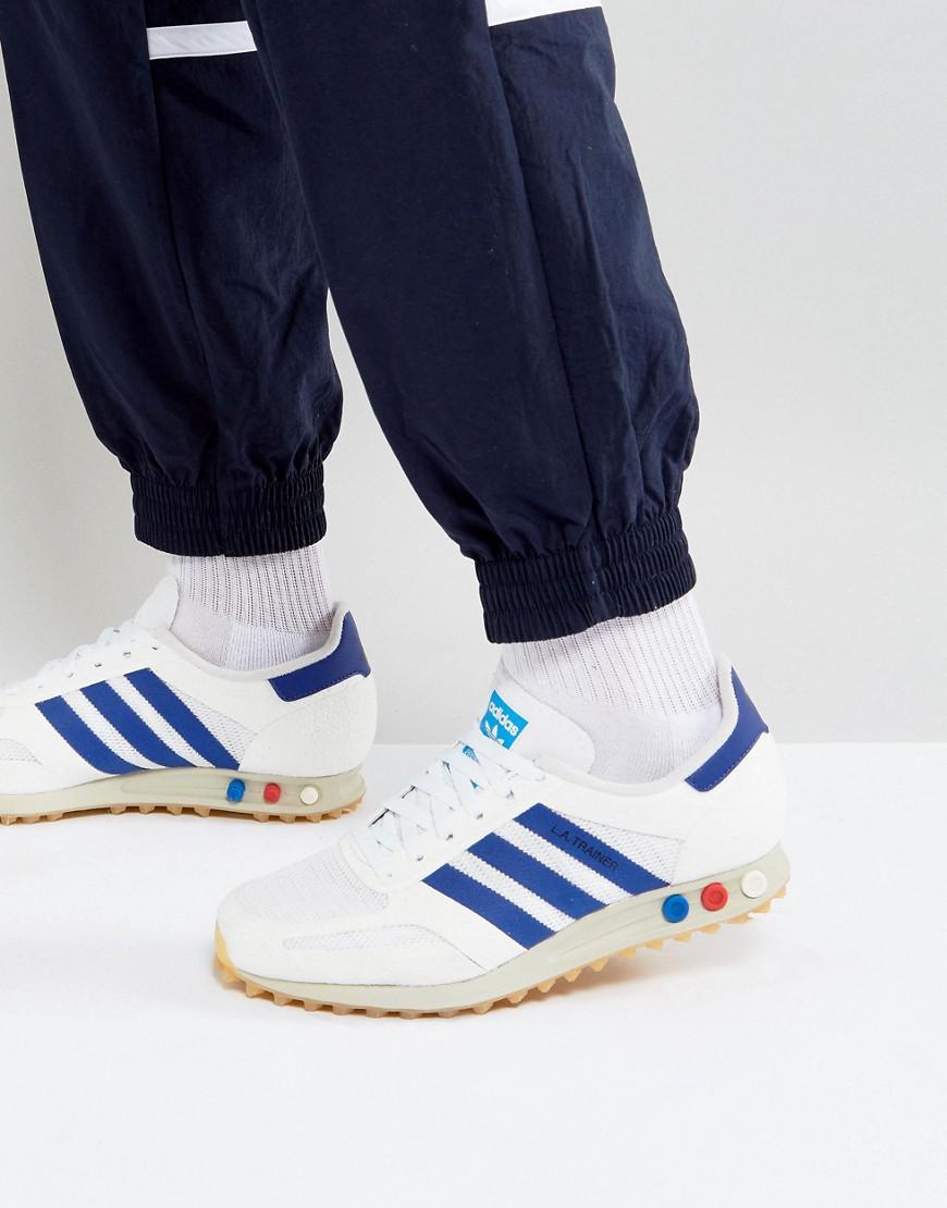 lyst adidas originali la scarpa da ginnastica in bianco by9319 in og