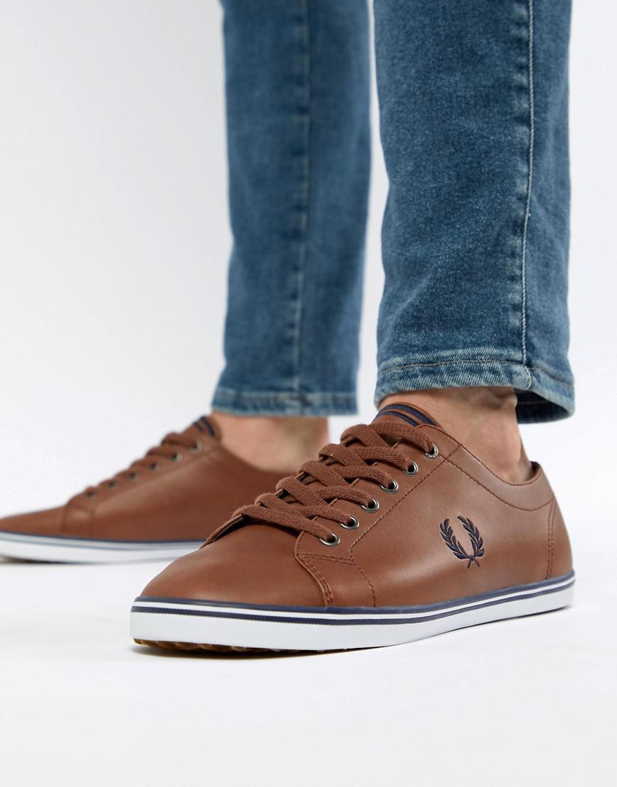 Kingston Leather Plimsolls In Tan
