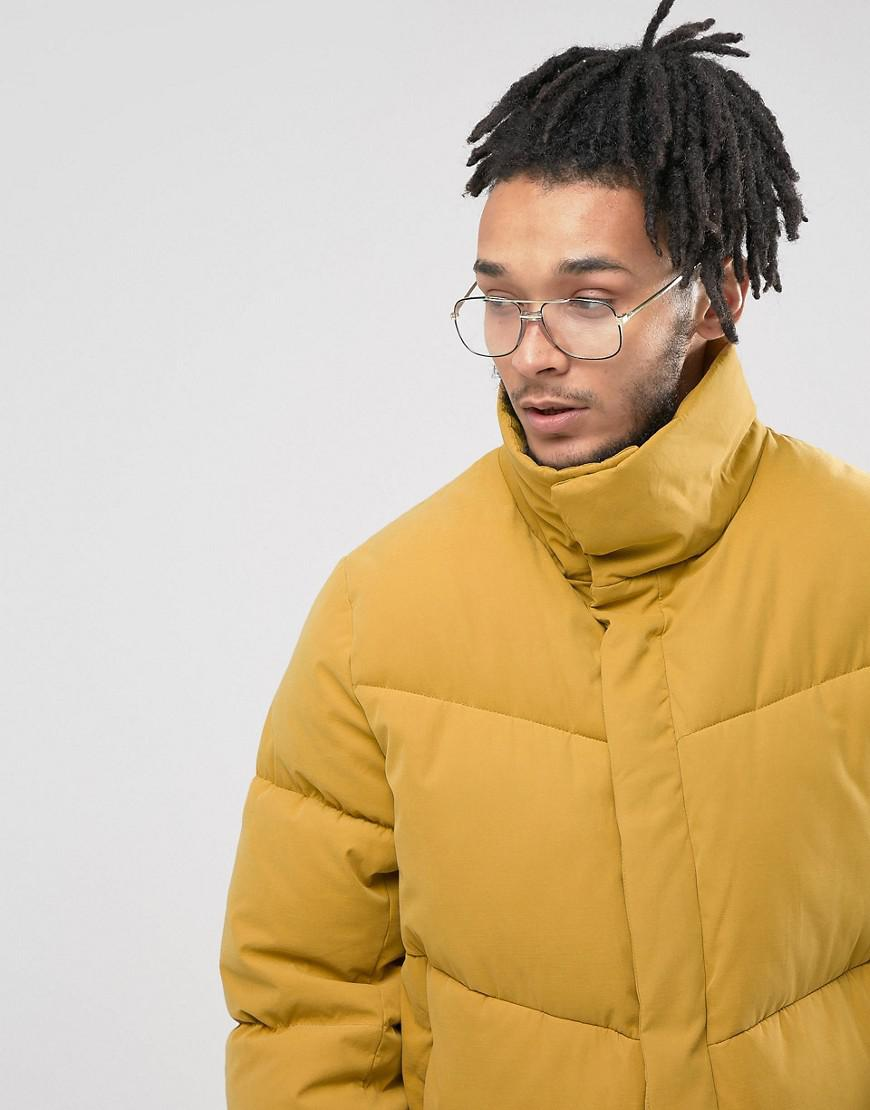 online retailer run shoes best collection Oversized Puffer Jacket In Yellow