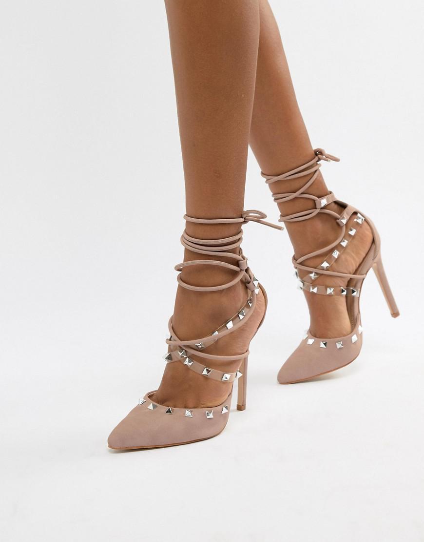 Public Desire   Public Desire Josie Floral Court Shoes at ASOS
