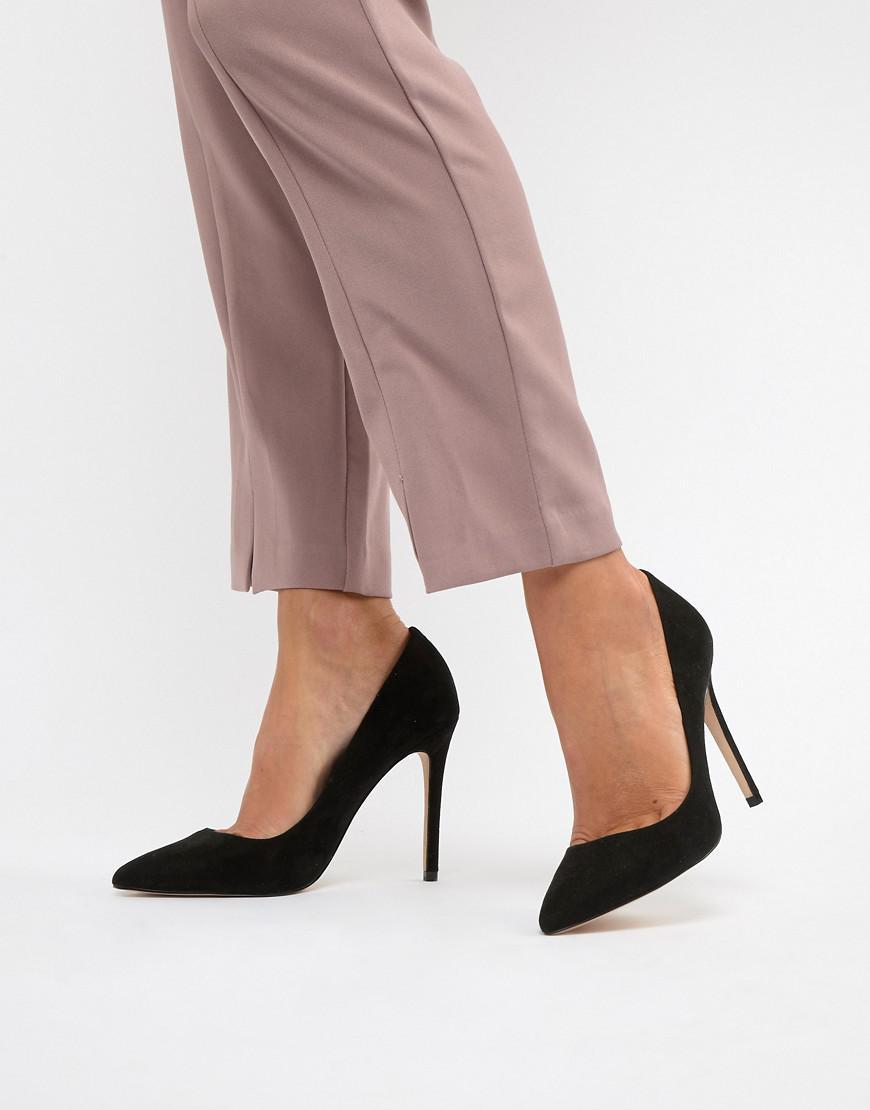 f287355e96f Faith Chloe Black Pointed Heeled Shoes