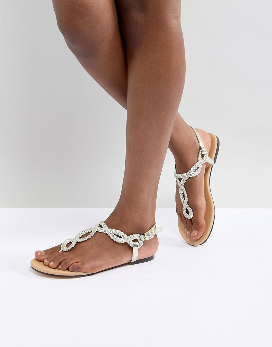 Oasis Knot Toepost Sandal in Silver