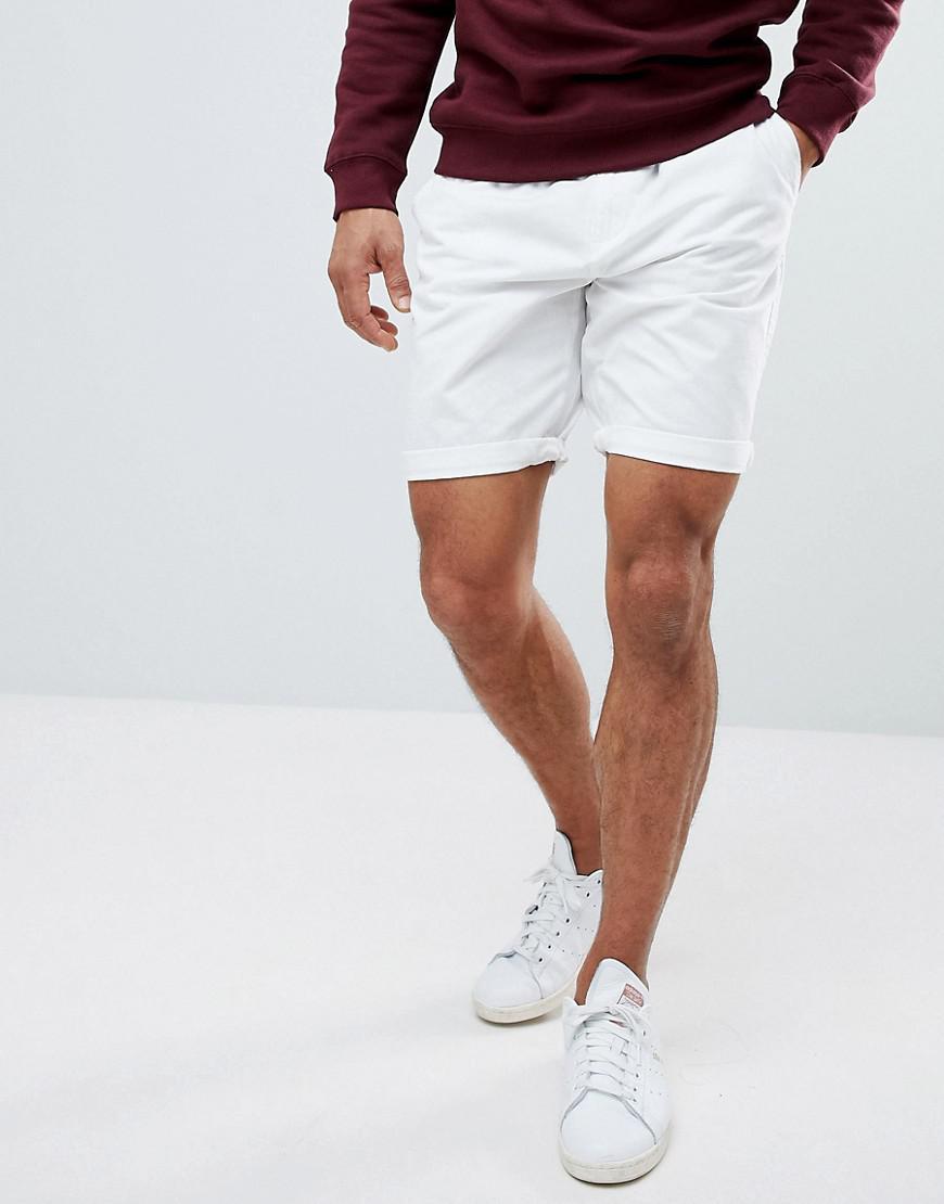 f4de867f9cfed Short chino ceinture Bershka pour homme en coloris Blanc - Lyst