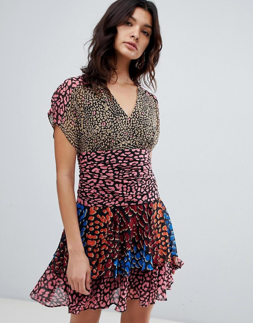 f6e302ac9d Karen Millen Leopard Print Flippy Dress - Lyst
