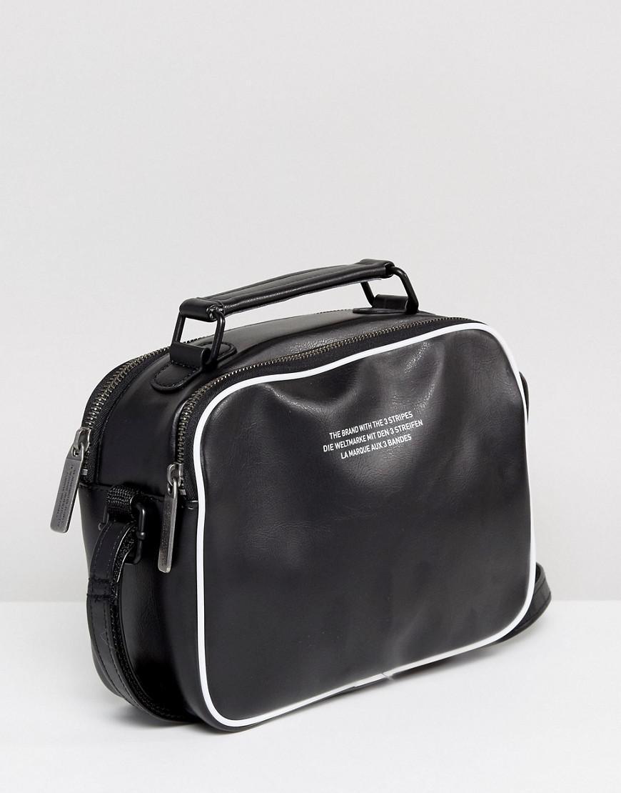 10199f56bd11 adidas Originals Originals Vintage Mini Airliner Bag In Black in ...