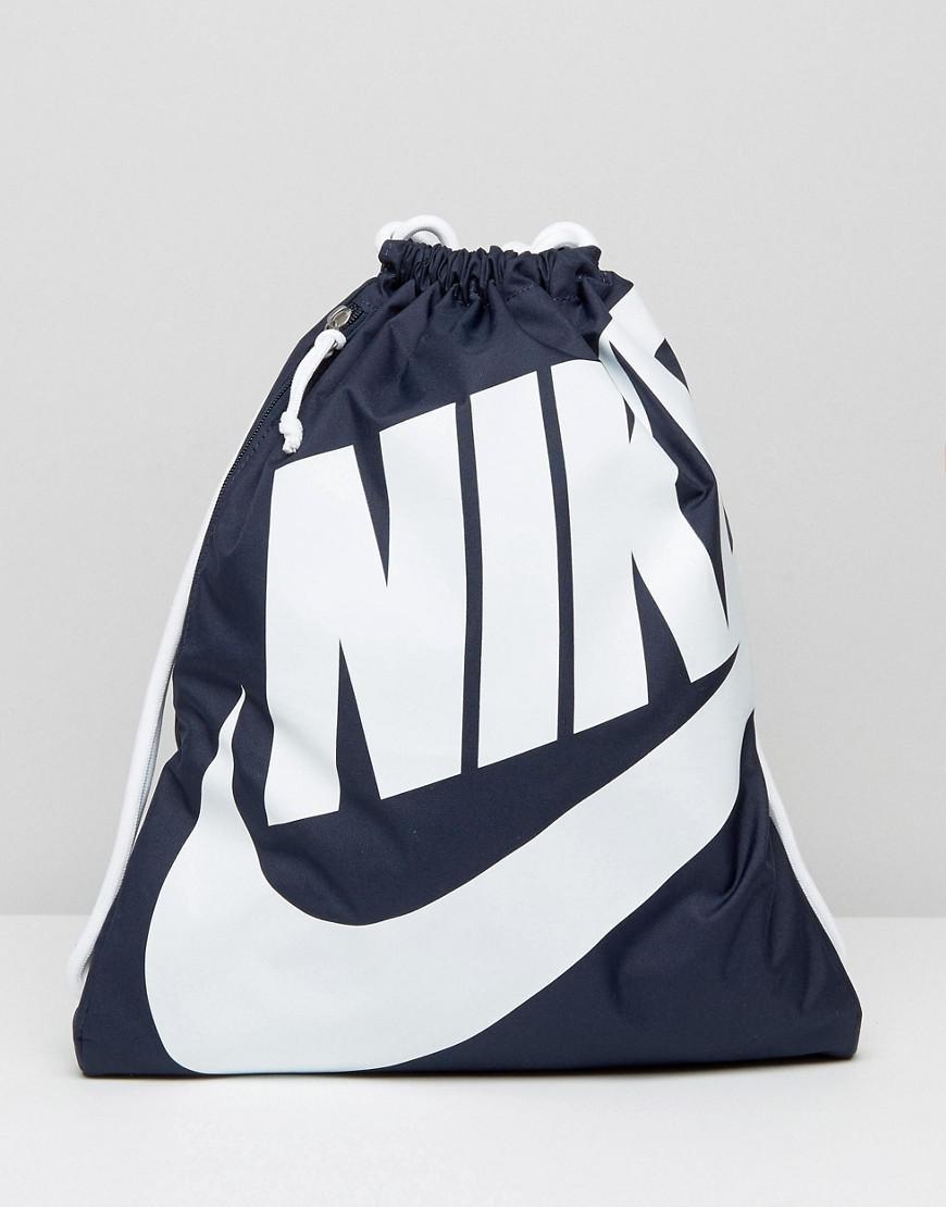 8acc773d97 Nike Heritage Drawstring Backpack In Blue Ba5351-451 in Blue for Men ...