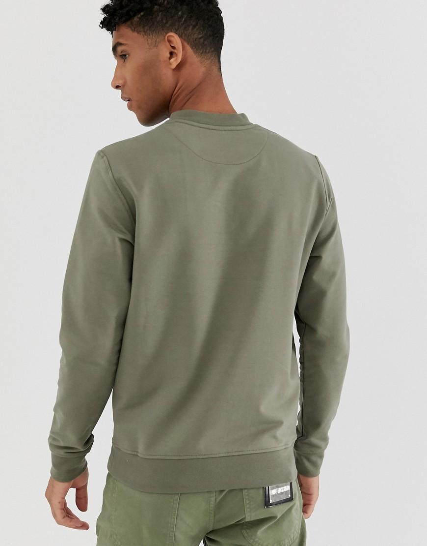 Love Moschino Katoen Sweater Met Logo in het Groen voor heren
