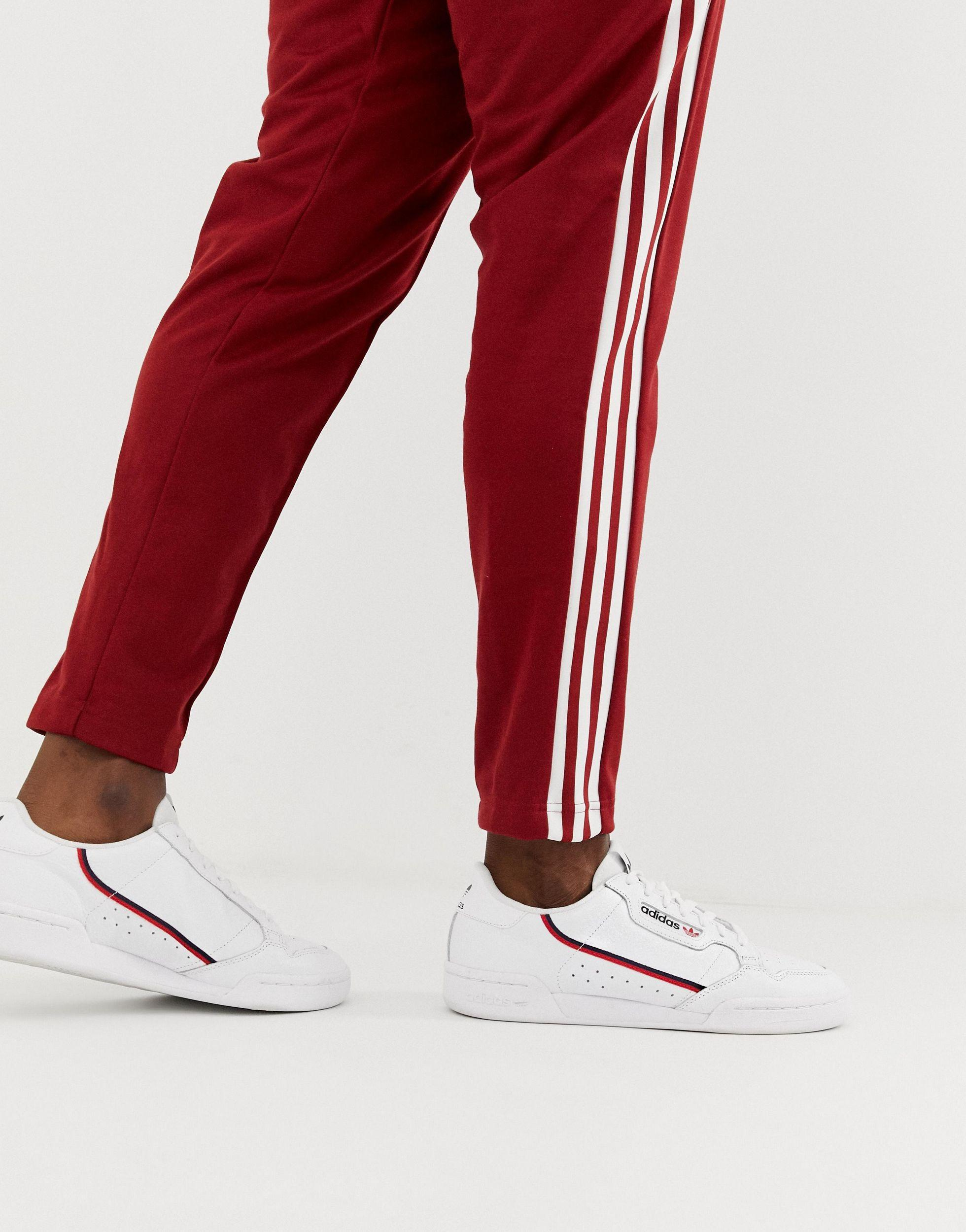 adidas Originals Leer Continental 80 - Sneakers in het Wit voor heren