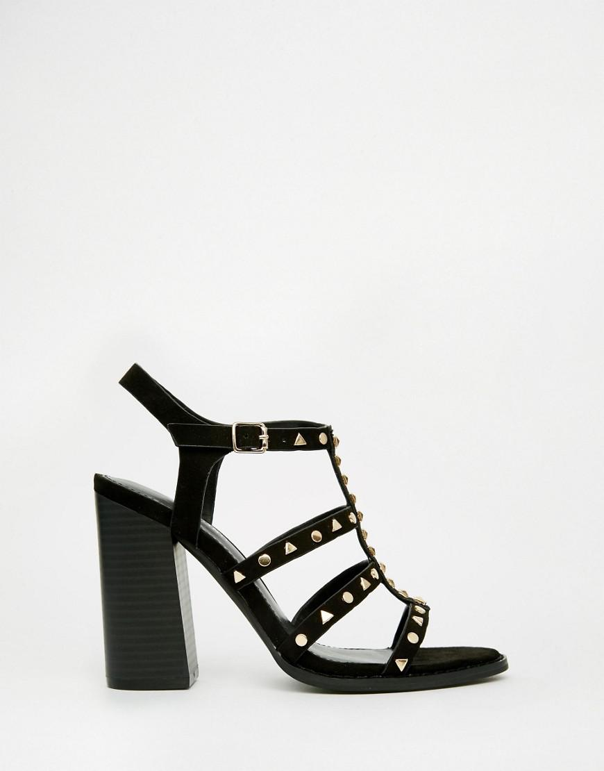 80eadf48bca Call It Spring Perren Chunky Studded Heeled Gladiator Sandal in ...