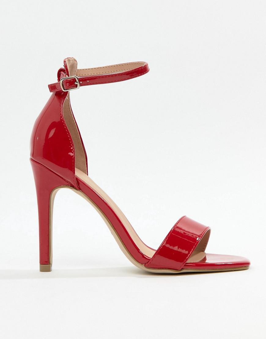 71eee6731b9 Lyst - New Look Heeled Sandal in Red