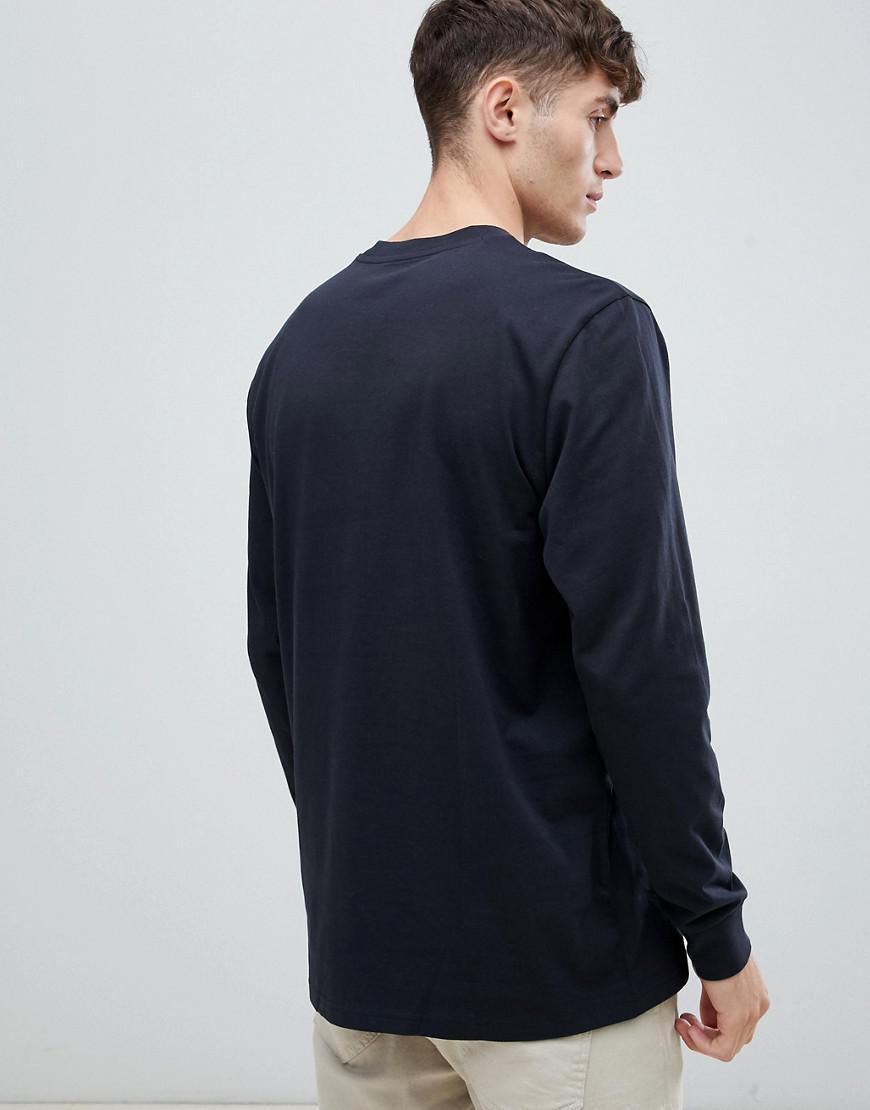 Lee Jeans Denim Jeans Top Met Logo Op De Borst En Lange Mouwen in het Zwart voor heren