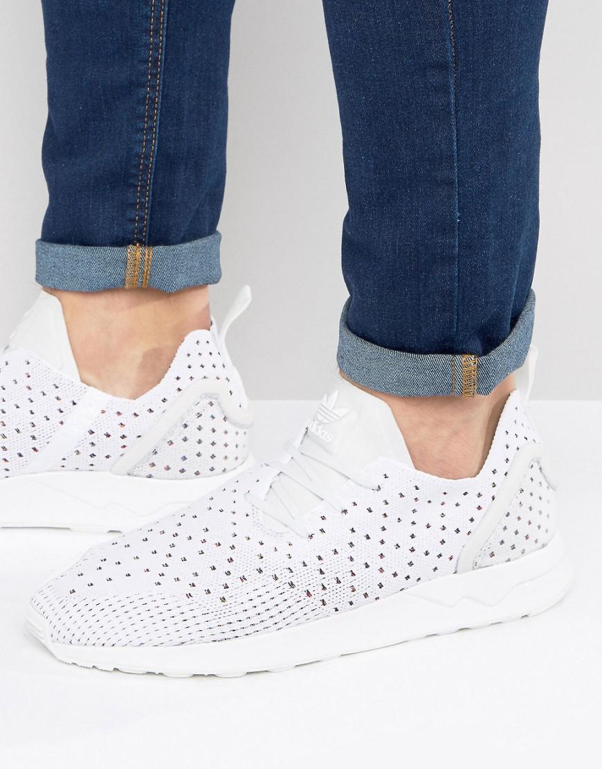 80f30b4db5c38 Lyst - adidas Originals Asymmetrical Zx Flux Primeknit Sneakers In ...