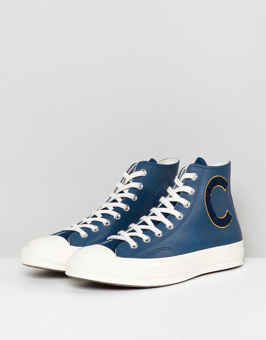 81cb7cb8367ca9 Converse - Blue Chuck Taylor All Star 70 Hi Plimsolls In Navy 159678c for  Men -