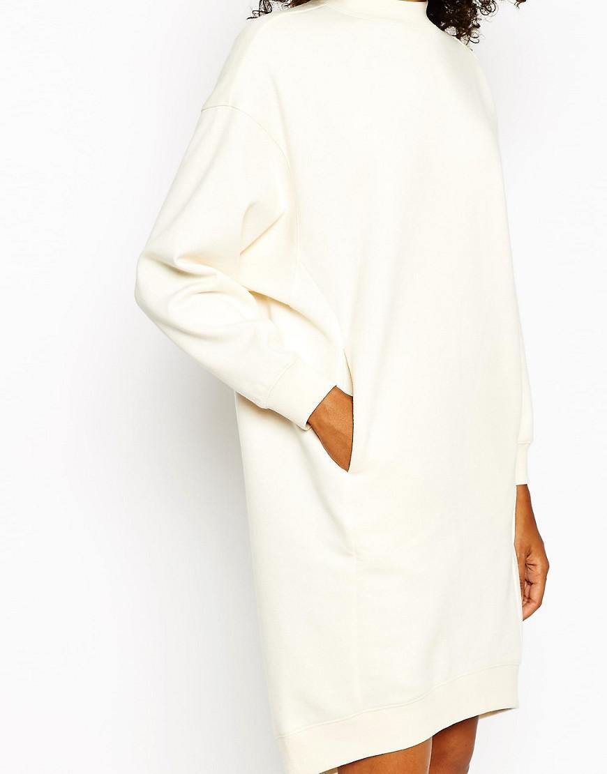 bons plans sur la mode vente officielle conception adroite Robe-pull oversize Monki en coloris Blanc - Lyst