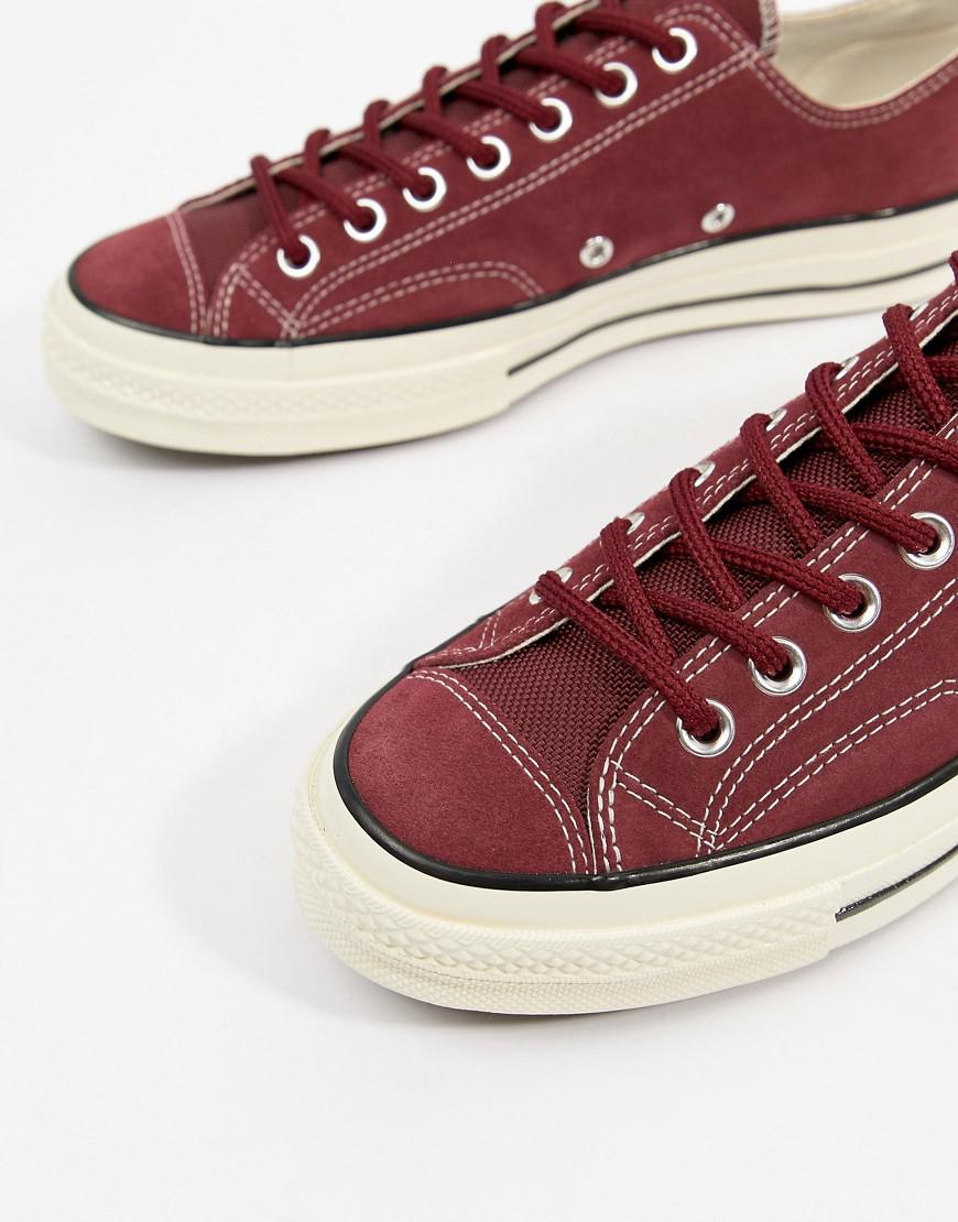 d33c7d660f5f Lyst - Converse Chuck Taylor All Star  70 Ox Trainers In Red 162375c in Red  for Men