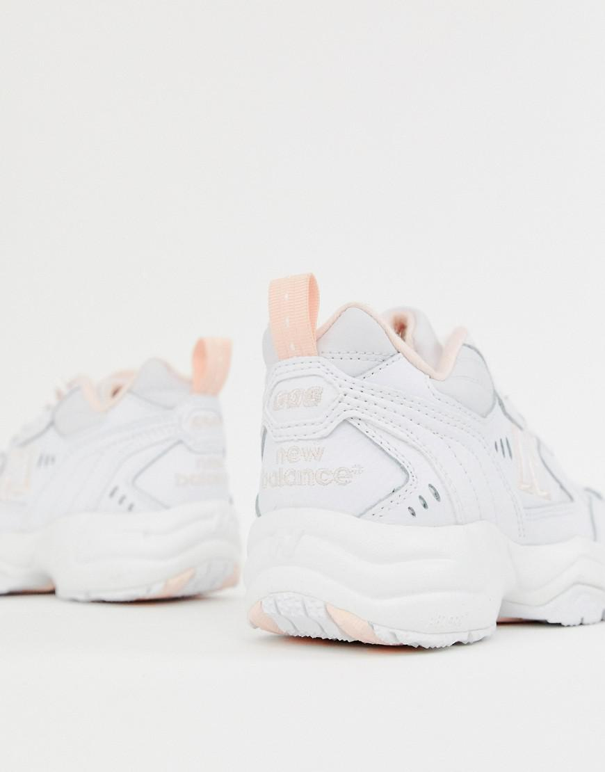 Terracotta scala mobile compagno  new balance 608 white with pink and green chunky trainers - 62% OFF -  airinternational.dk