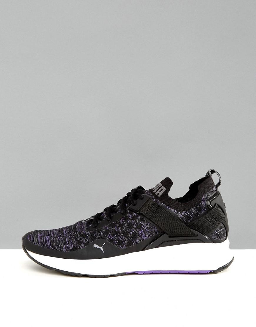 Lyst - PUMA Ignite 3 Evoknit Low Sneakers In Black in Black b672611f1