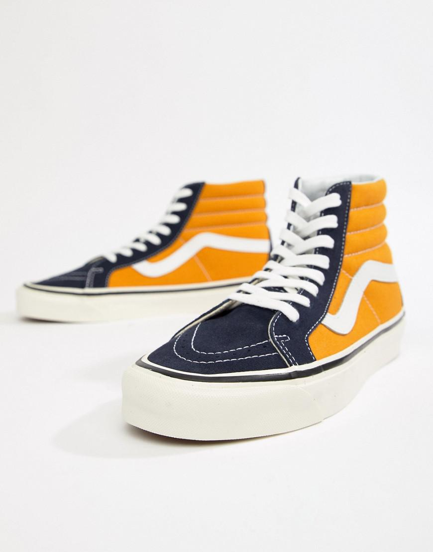 4f323fc6a05 Vans Sk8-hi 38 Dx Anaheim Trainers In Yellow Vn0a38gfubt1 in Yellow ...