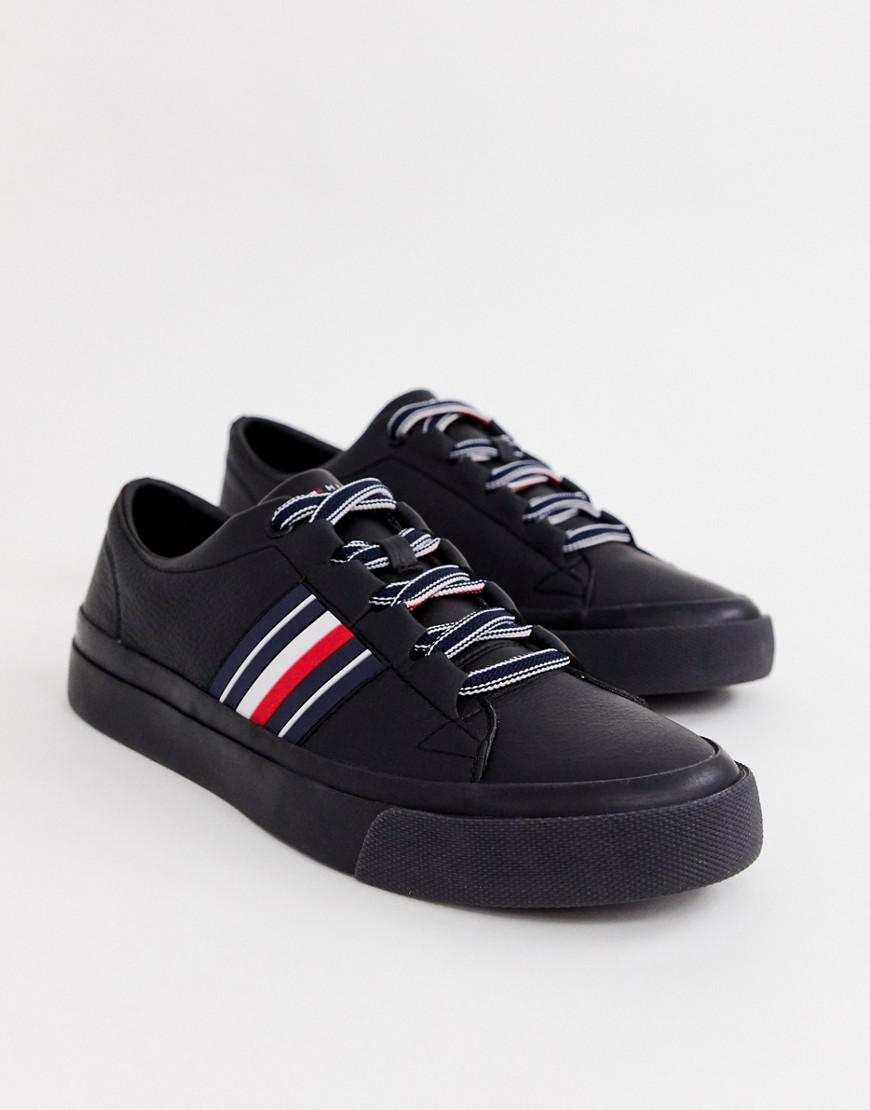 Tommy Hilfiger Corporate Stripe Leather