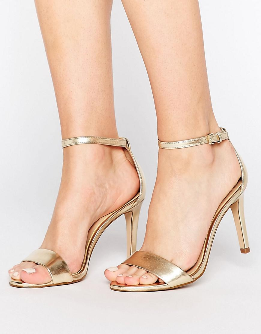 3c3e7e4e0bca Lyst - ALDO Camy Gold Metallic Strap Sandals in Metallic