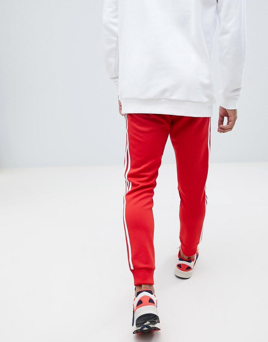 soldes les ventes chaudes réduction jusqu'à 60% adidas Sst Tracksuit Bottom in Red for Men - Lyst