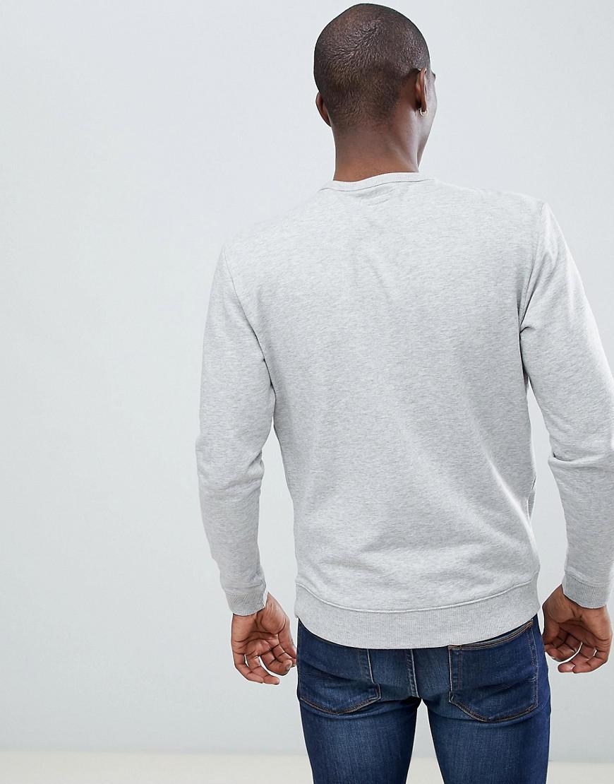 Lee Jeans Denim Jeans Crew Neck Sweater in Grey (Grey) for Men