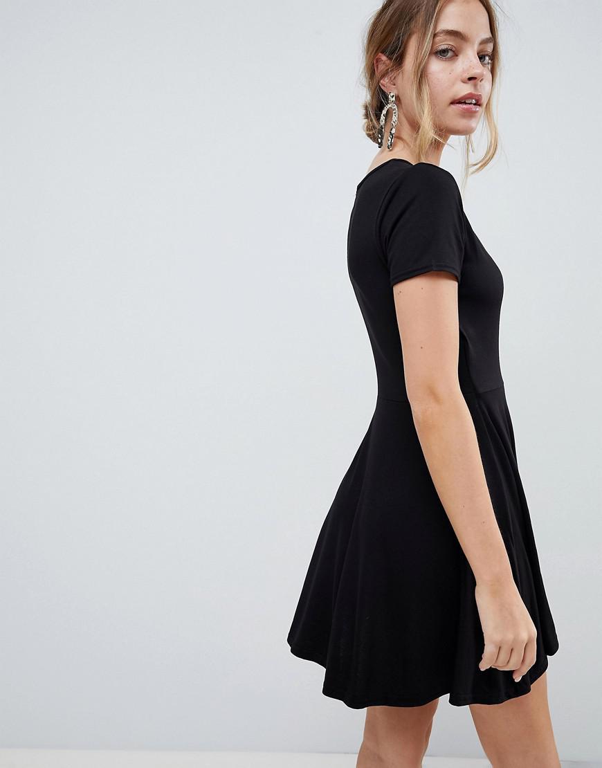 caf62392b1ee Lyst - Boohoo Wrap Tea Dress in Black