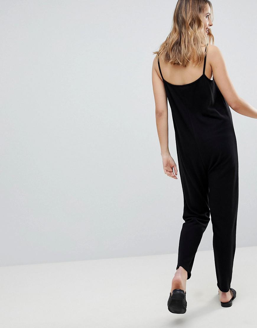 86abd96d53b8 Lyst - ASOS Asos Design Maternity Lounge Super Jumpsuit in Black