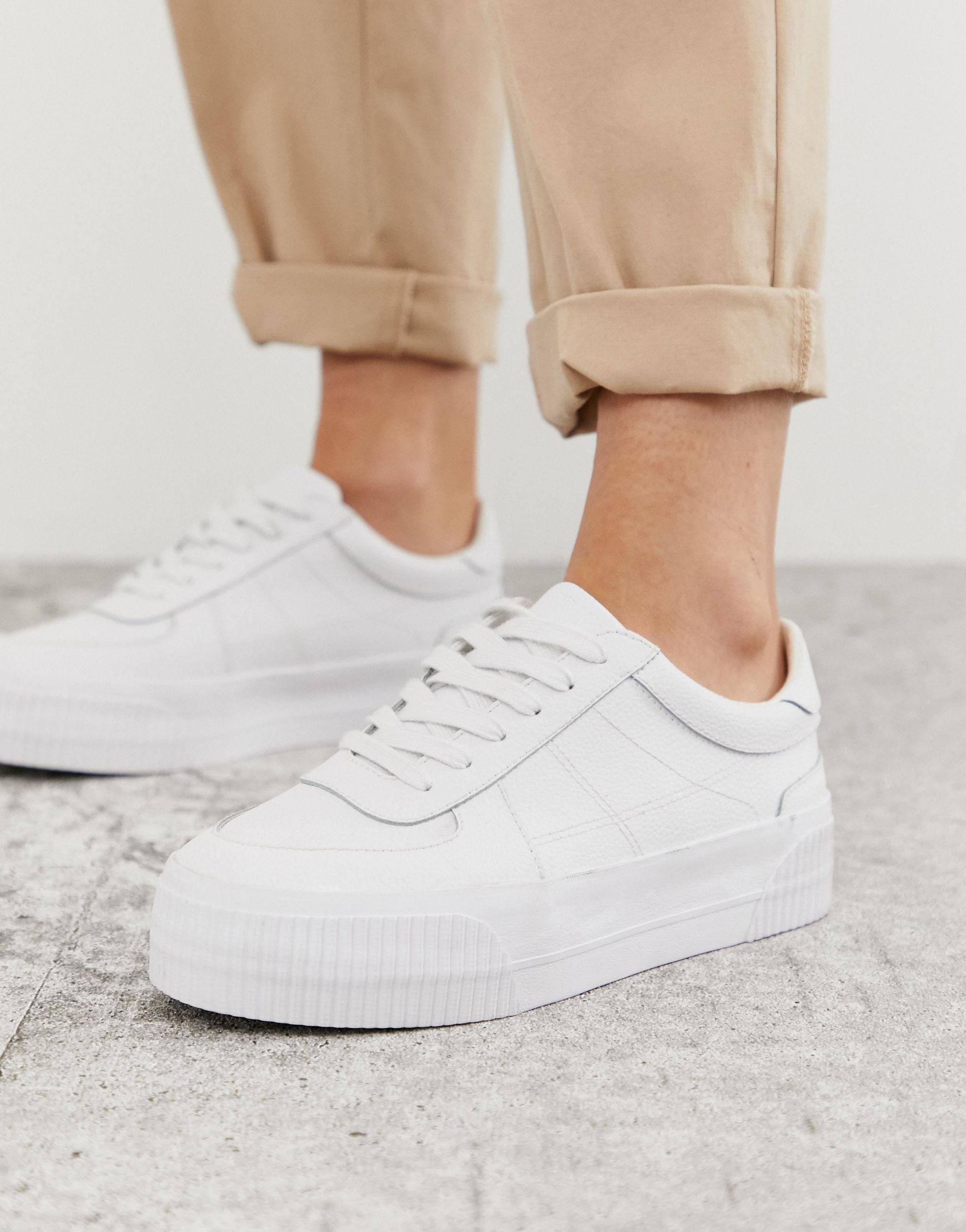 ASOS Depart Leather Chunky Trainers in