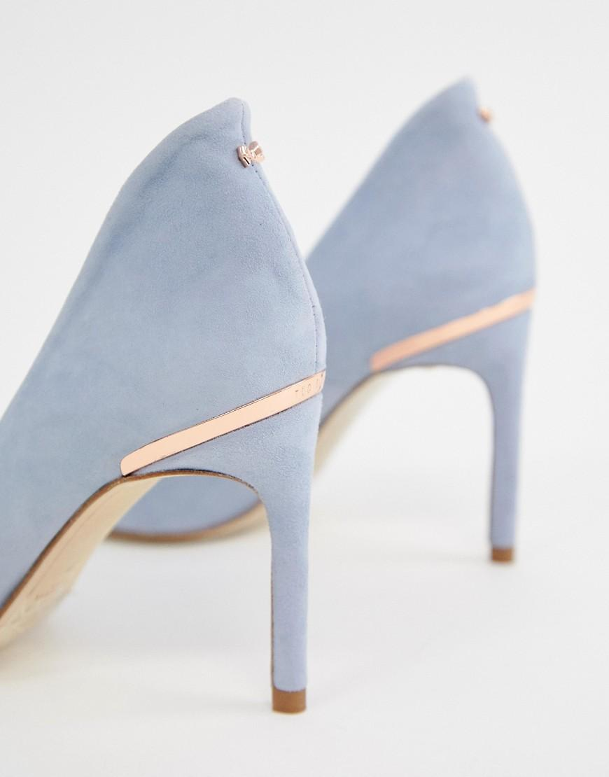 Ted Baker Suede Heeled Shoes in Blue - Lyst