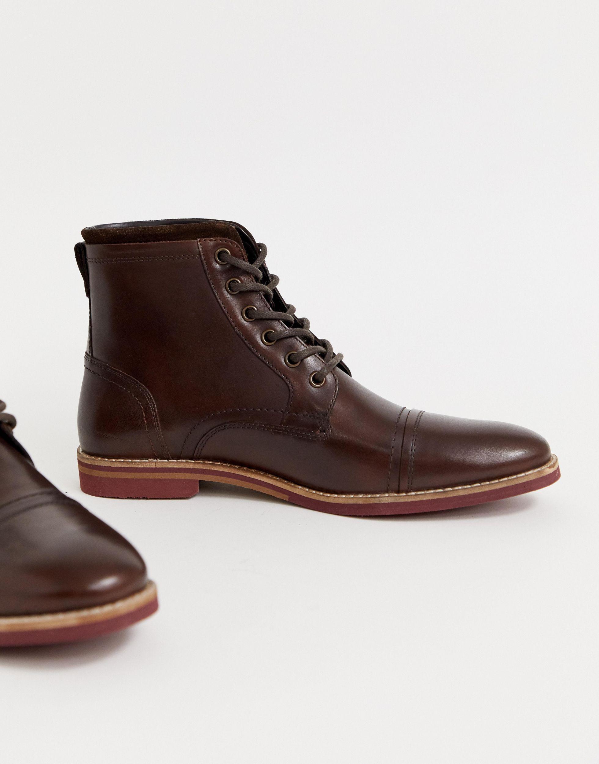 Botas ASOS de Cuero de color Marrón para hombre