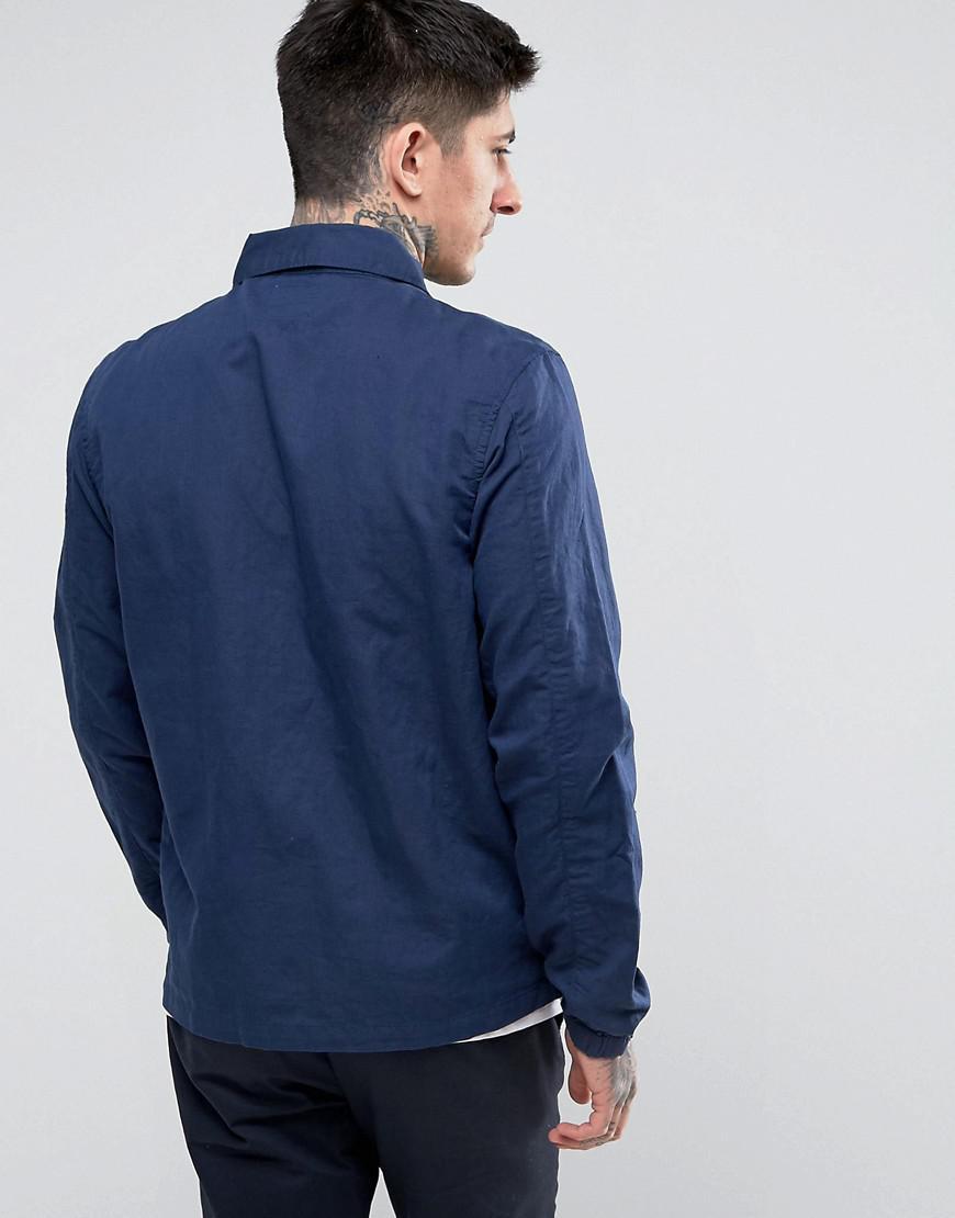 Lee Jeans Overshirt Regular Fit Slubby Canvas in Navy (Blue) for Men
