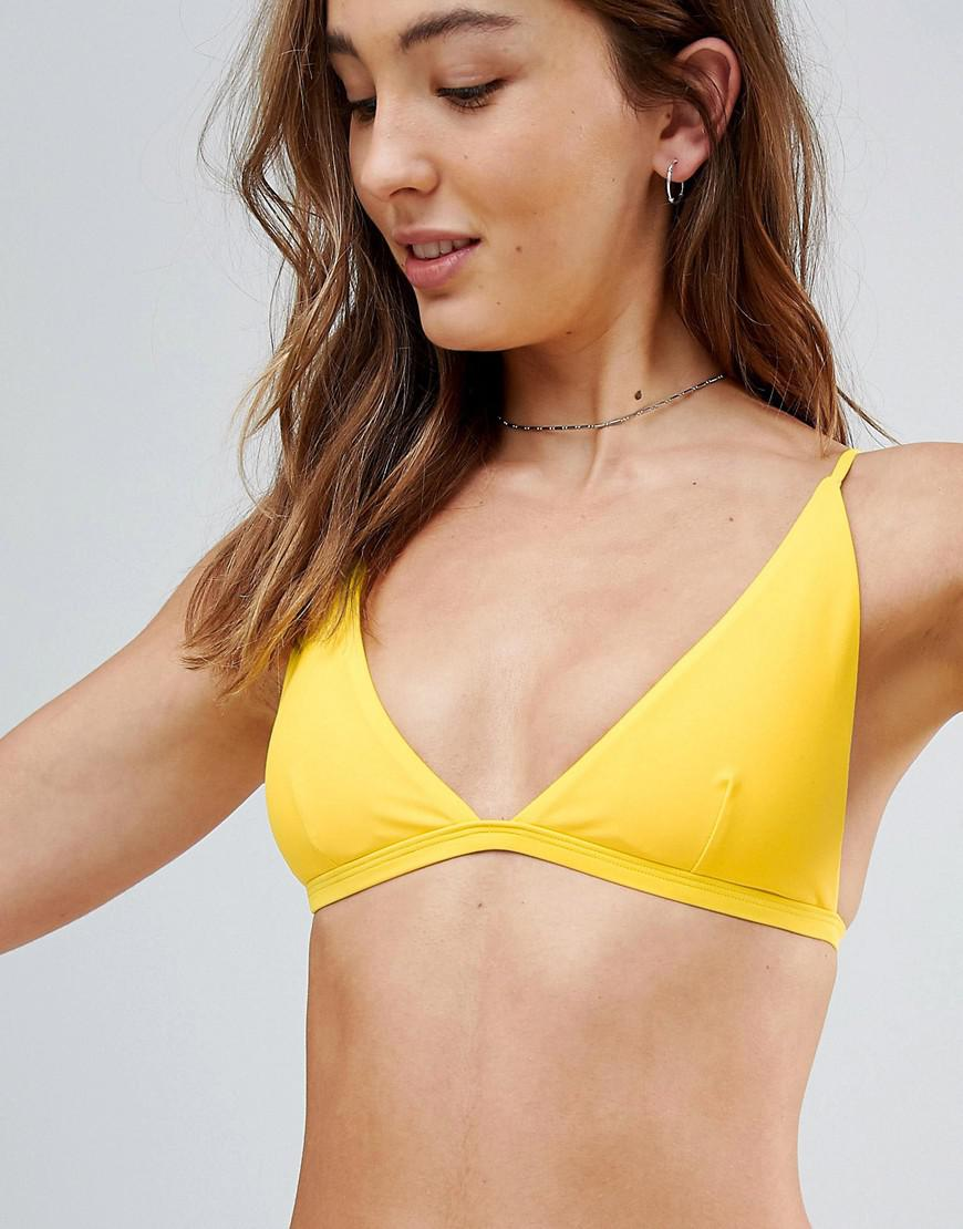 Sale Buy Pay With Paypal Online Thin Strap Triangle Bikini Top - Yellow South Beach Popular For Sale Outlet 100% Guaranteed Official Cheap Price 6sZjMeg6iN