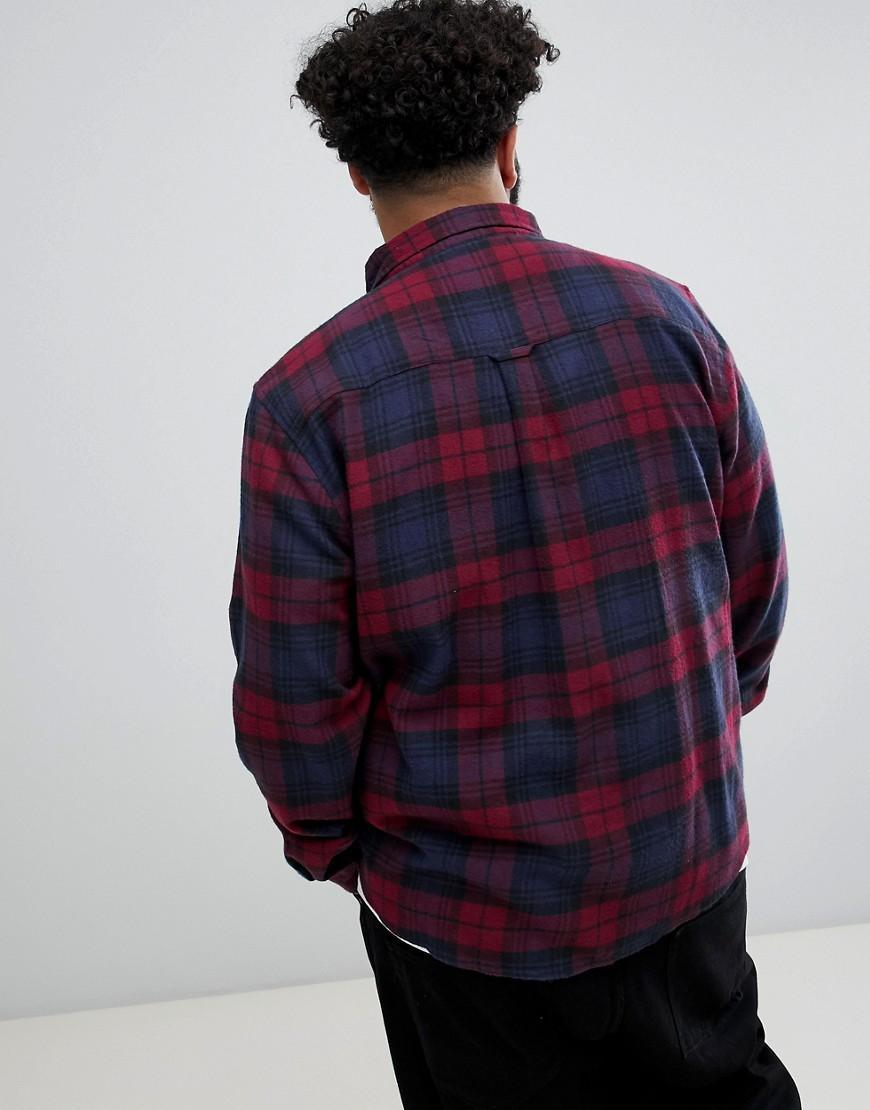 Another Influence Katoen Plus - Overhemd in het Rood voor heren