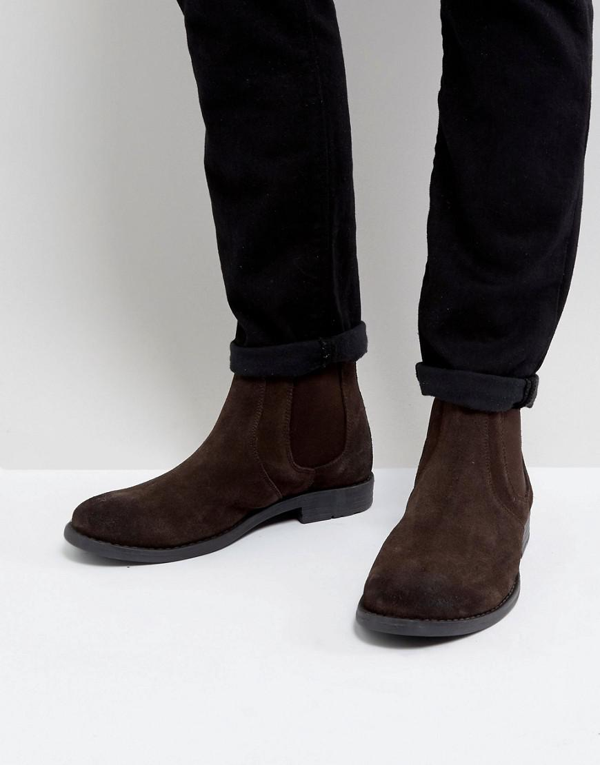 Frank Wright Suede Round Toe Chelsea
